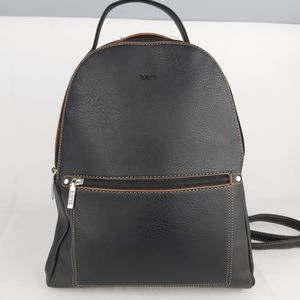 Roots backpack purse Dark brown faux leather